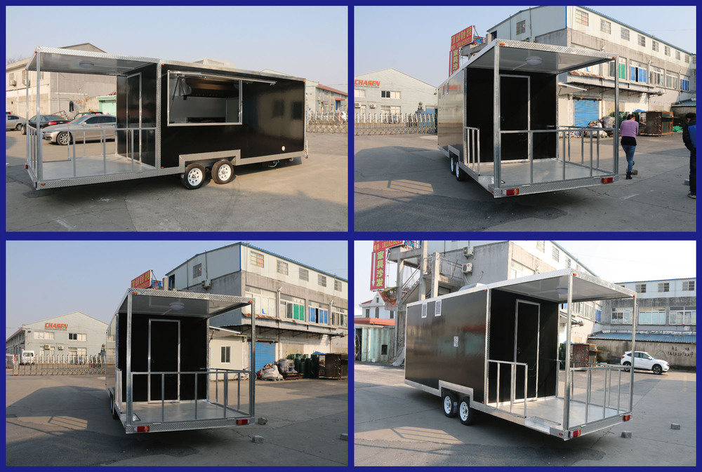 BAOJUFV-68 New model best mobile kebab van double axles cheap mobile kebab van cheap price high quality mobile kebab van forsale