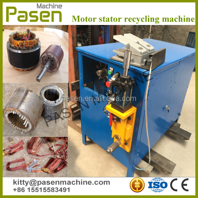 Waste motor stators and rotor cutting machine / Waste motor stators recycling machine