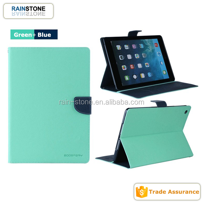 High Class Mercury Contrasted Tablet Case Cover for iPad 5, Fashion Leather Flip Protective Cover for iPad Air