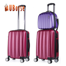 Trendy soft handle ABS aluminum trolley travel luggage set 3 pieces