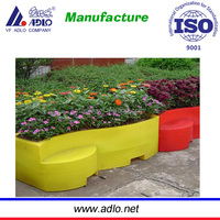 Blue Square Plastic Flower Pots Greensun