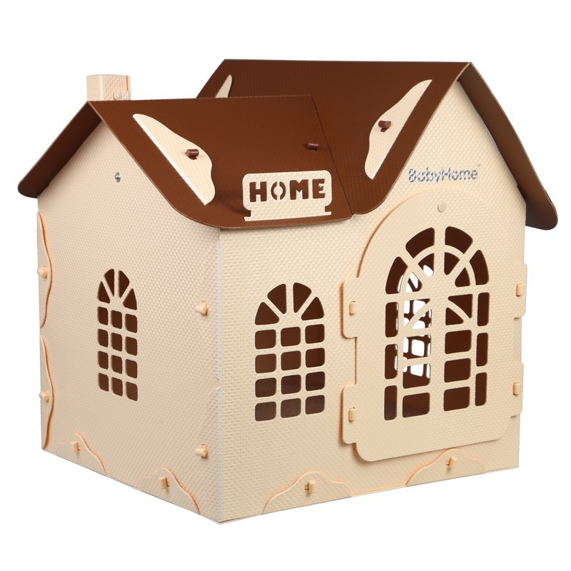 Durable Plastic All Weather Large Outdoor and Indoor Pet Dog Tiny House