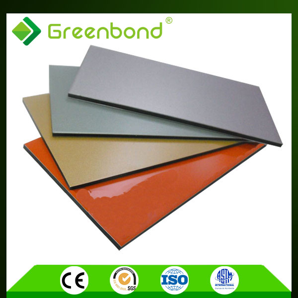 Greenbond environmental friendly building material attractive price exterior decorative metal plastic wall panel