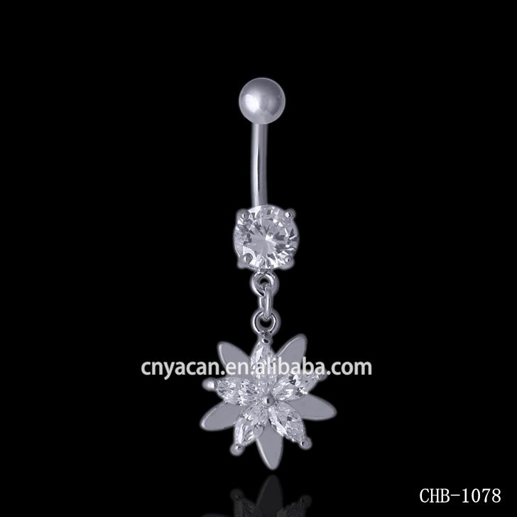 Magnetic Industrial Ear Piercing Sun Flower Belly Button Rings Slave Rings Body Jewelry