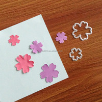 Wholesale metal flowers and leaves dies for handmade invitation