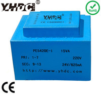 15VA 110V to 6V 12V 24V single phase power transformer manufacturer