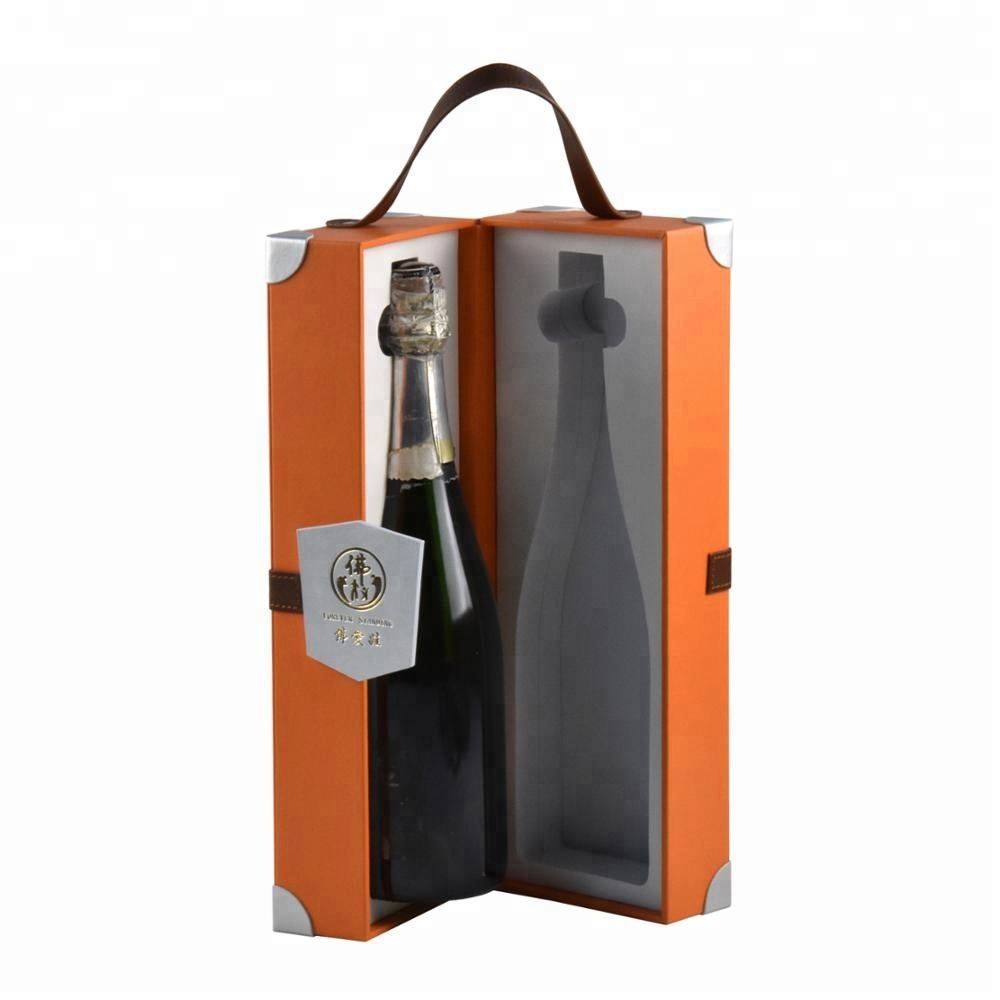 Fashion custom cardboard wine gift box with EVA/sponge