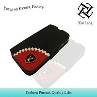 embossing leather case for samsung galaxy s4 with decoration case