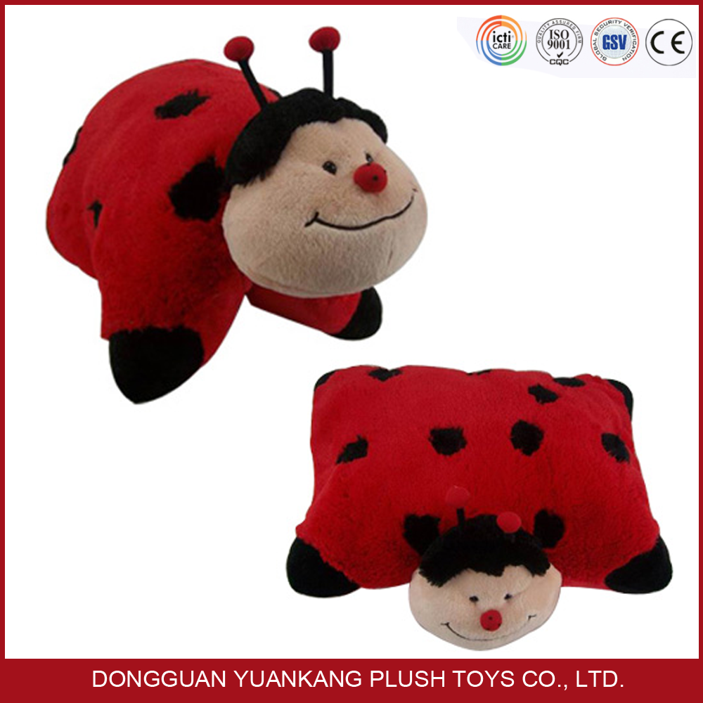 Lovely custom ladybug pet pillow plush animal pillow