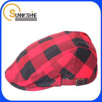 Sunny Shine custom dark red checked beret