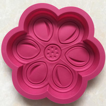 Large cake mould silicone RED color best silicone baking cups Non-toxic rubber molds for baking