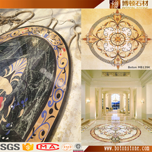 Alibaba Best Wholesale Floor flower tiles design marble waterjet medallion mosaic