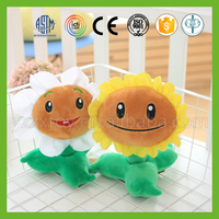 Hot sale vivid funny plants vs zombies plush toy for children