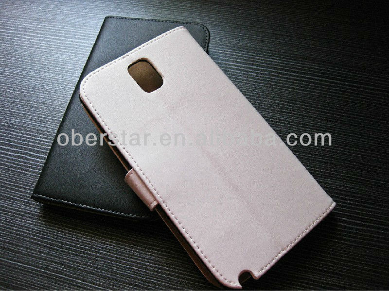 Stand Card Slots Flip Cover Leather Case for Samsung Galaxy Note 3 N9000 Note III