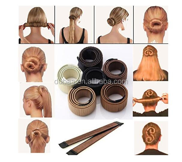 Hair Bun Updo Fold Wrap Snap Styling Tool DIY Accessories Hair Styling French Donut Former Bun Maker Twist Magic Tools