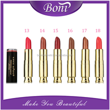 Women love lips makeup 24 colors lipstick top quality golden tube cosmetics make up lip stick