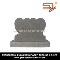 double heart jewish headstone decoration for funeral from Alibaba