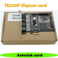 TE220P 2 port T1/E1 Digital Asterisk PCI Express Card Asterisk E1 PRI Card