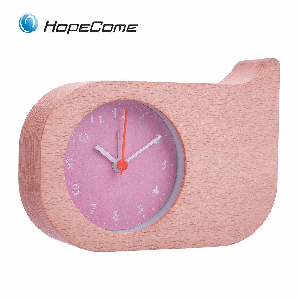 Simple Design Table Alarm Clock Wood