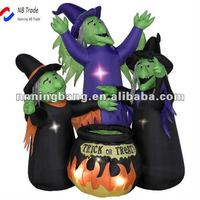 Three witch round the fire Halloween decoration
