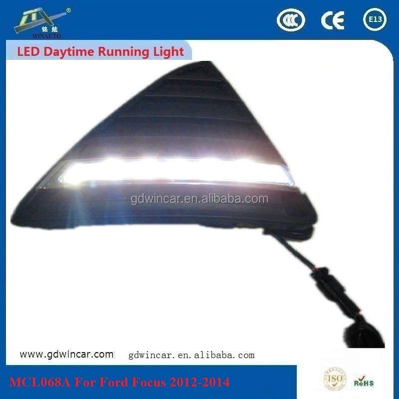 Top Quality 6-18v Car Part <strong>LED</strong> Lamp Daytime Running Light/ <strong>LED</strong> DRL Light Specific For Ford Fo cus DRL