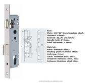 High security standard Aluminum door lock parts
