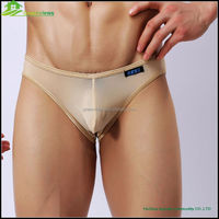 Sexy gauze boys boxer briefs sexy underwear for men International lingerie factory nude man transparent sheer briefs GVYJ33