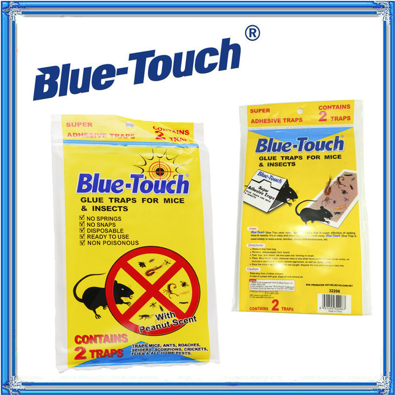EPA Certificated blue-touch trampa raton paper glue household product fly trap
