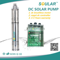 New Popular dc solar submersible water pump solar powered pump system