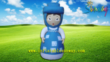Attractive Little Girl Advertising Inflatable , Cartoon Inflatable Outdoor Decorations