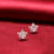 Fashion jewelry AAA cubic zirconia 925 sterling silver shiny stud earring for party