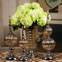 European- luxurious neo-classical model of post-modern TV cabinet wine glass ornaments soft home furnishings decorations