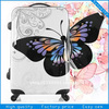 butterfly printed eminent travel trolley luggage