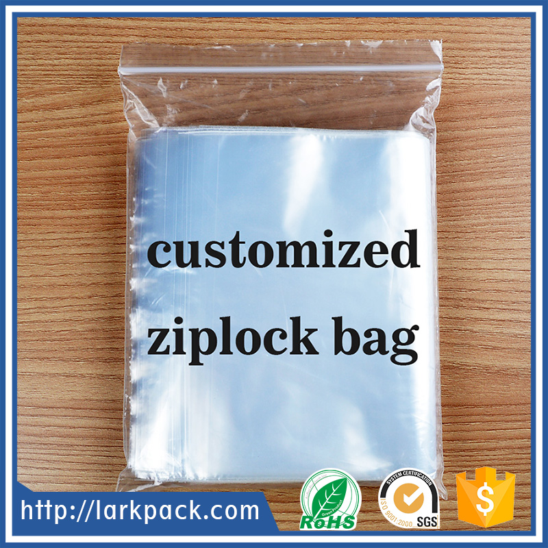 Customized ldpe plastic transparent printed ziplock bag