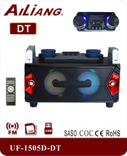 Active multimedia woofer speaker UF-1505D-DT with FM radio/SD/bluetooth/USB input