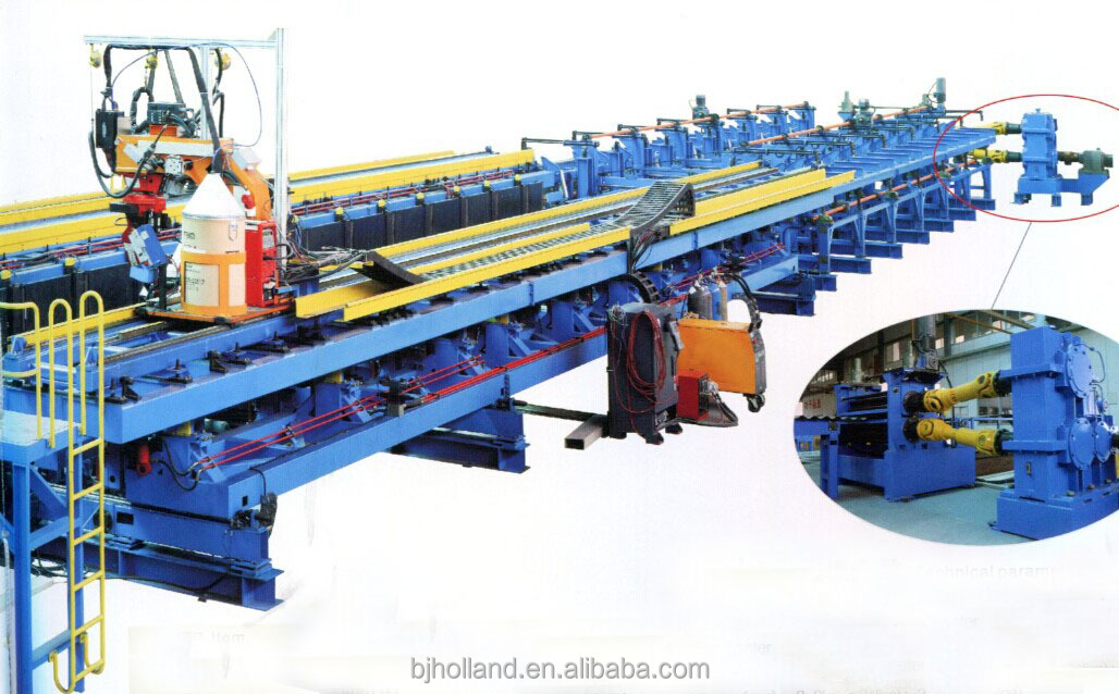 BJH Corrugated Web H-beam Automatic Welding Line