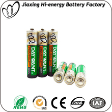 Battery Manufacturer Size AAA non-rechargeable R03 battery