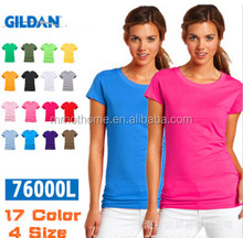 Ladies cotton t shirt fitness