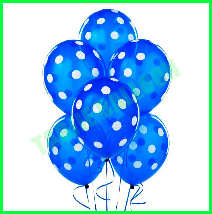 12 inches latex polka dot party balloons for party decoration