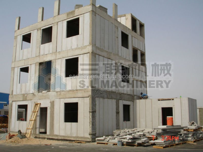 insulated partitional wall panel production