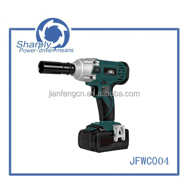 "variable speed cordless impact wrench with 18v capacity(JFWC004),hot selling model design with 1/4"" Hex capacity"