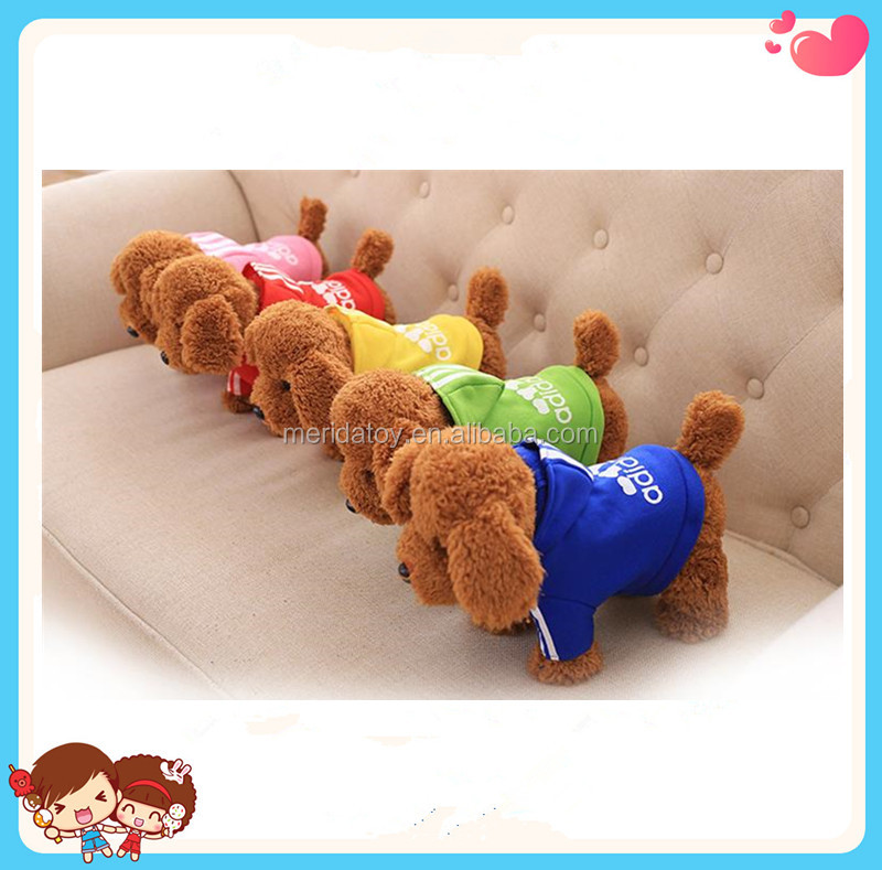 Custom Hot Sale Soft Animal Stuffed Plush Electronic Teddy Dog Talking And Singing Toy For Kids
