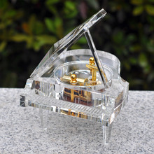 Crystal piano music box, music boxes, girl's creative diy custom birthday gifts