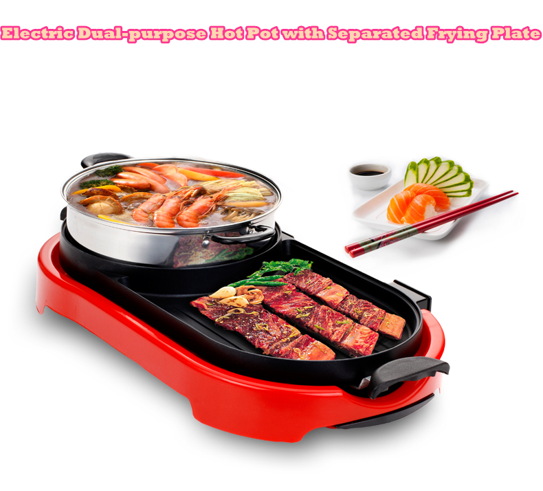 BARBECUE SHABU SUKI Cook Hot Pot Kitchen BBQ electric grill