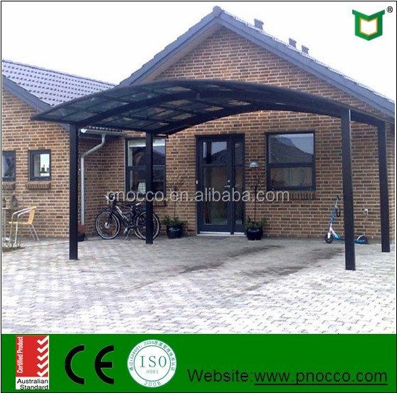 Aluminum Carport Canopy With Transparent Roofing Material for House Design