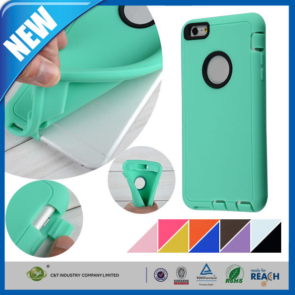 C&T Good qaulity soft silicon case for iphone 5 6 6+,cover for iphone