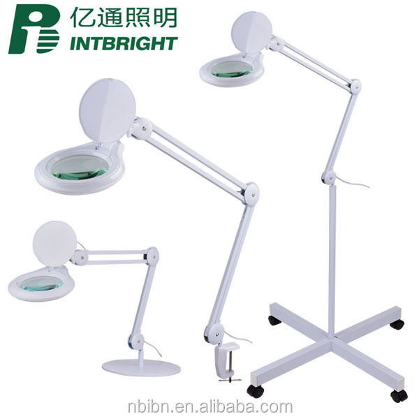 3/5/8 Diopter clamp/table base/ portable floor stand dental beauty lamp magnifier lighting dimming LED magnifying Lamp