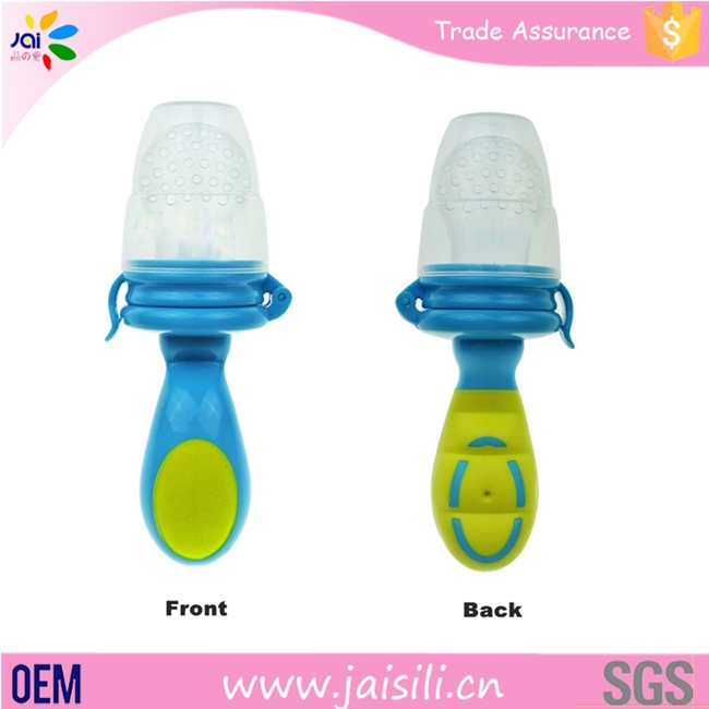 new 2016 BPA free baby fresh food and fruit pacifier feeder