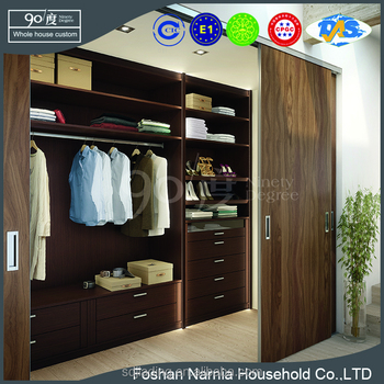 New Style Custom Closet Sliding Door Series Closet with 8 Cabinet Drawer