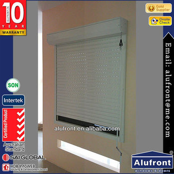 Aluminum Electrical Roller Shutter Window with Hot Sale